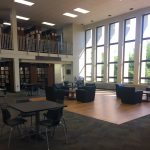 Come read or relax in our new furniture by the windows!