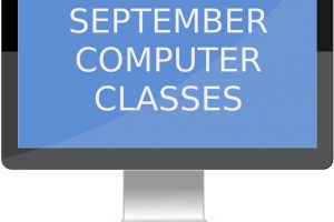 Sign Up for a September Computer Class